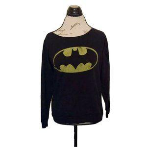 Batman Sweater Long Sleeve Womens Size Medium